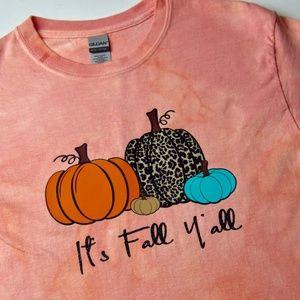 NWOT It's Fall Y'all Tie Dye T-Shirt